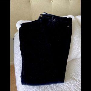 J Jill black velour jeans.